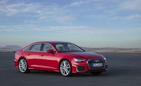 2019 Audi A6 red front view