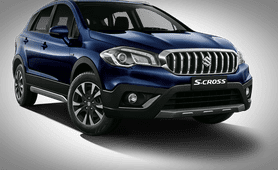 2018 maruti s-cross nexa blue front right view