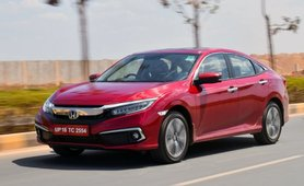 2019 Honda Civic red side profile angle