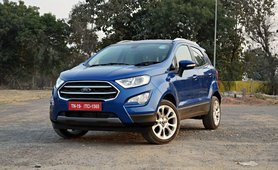2017 Ford EcoSport petrol AT blue front angle