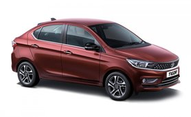 Tata Tigor exterior red colour