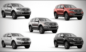 Ford Endeavour  review color option