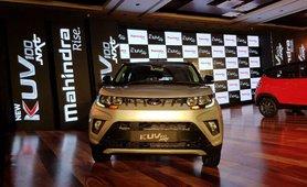 Mahindra KUV100 NXT silver front