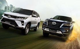 2021 Toyota Fortuner vs Legender front views