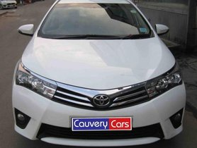 Good Toyota Corolla Altis G AT 2015 for sale in Bangalore