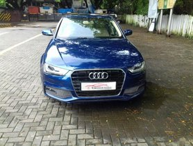 Blue Audi A4 1.8 TFSI Premium Plus 2014 by owner