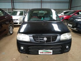 Black 2009 Maruti Suzuki Alto for sale