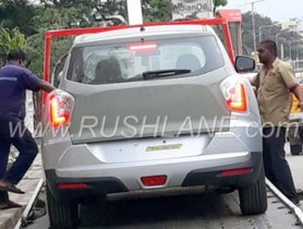 Mahindra's new SUV arrives at car dealer, ready to be launched
