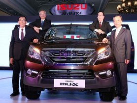 Facelifted Isuzu MU-X to be Launched in India on October 16