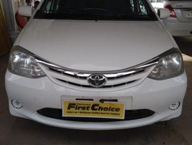 White 2012 Toyota Platinum Etios for sale