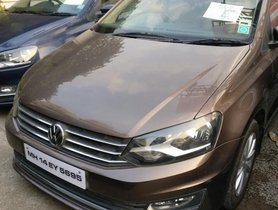 Used 2015 Volkswagen Vento car at low price