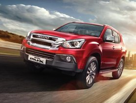 2018 Isuzu MU-X Facelift Launched in India at Rs 26.26 Lakh