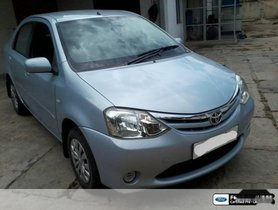 Used 2011 Toyota Platinum Etios car at low price