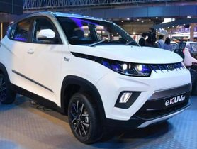 Mahindra eKUV100 EV to Be Introduced in The Middle of 2019