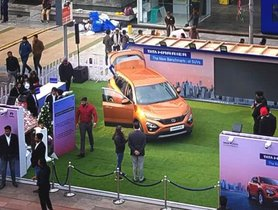 Tata Harrier Makes Public Debut With Roadshows
