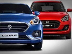 2019 Maruti Suzuki Swift & Dzire Prices To Be Hiked By Nearly Rs. 9,000