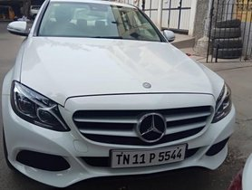 Used Mercedes Benz C Class car 2015 for sale at low price