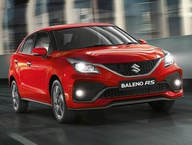 Maruti Suzuki Baleno RS Facelift to Cost Rs 8.76 Lakh