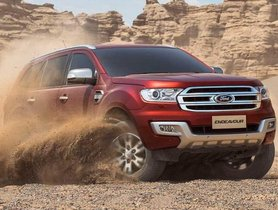Ford Endeavour Facelift To Launch In India This Month