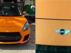 This Modified Maruti Suzuki Swift Looks Like A MINI Cooper