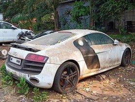 Virat Kohli's Audi R8 is now in a poor condition