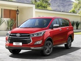 Toyota Innova Crysta G Plus Launched at an Introductory price of Rs 15.57 lakh