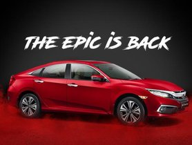 2019 Honda Civic Officially Launched At INR 17.70 Lakh