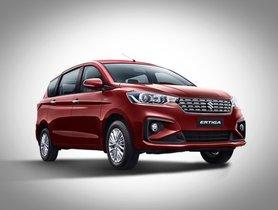 Maruti Suzuki Ertiga Registers Highest Monthly Sales, Overtakes Innova Crysta and Marazzo