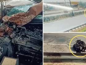 Ford Ecosport Shows Its Good Build Quality In The Accident With Maruti Dzire