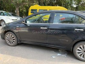 Maruti Ciaz 1.5L Diesel Spotted On Test Again