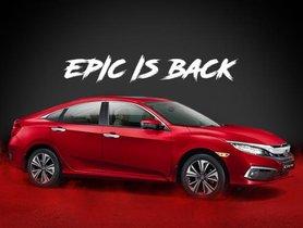 Honda Civic 2019 Promises To Take The Premium Sedan Segment By Storm