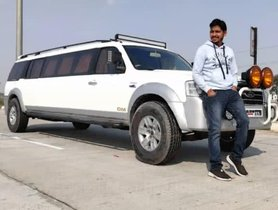 """This Is A Ford Endeavour Limousine Which Is """"Made In India"""""""
