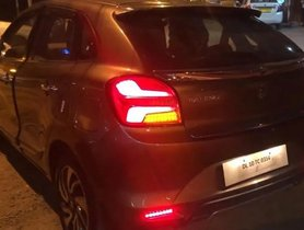 Custom Maruti Baleno Facelift With Audi-style Matrix Tail Lamps [Video]