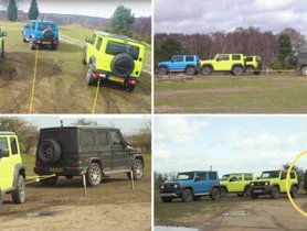 Mercedes-Benz AMG G63 Vs Suzuki Jimny - Which Wins The Tug-Of-War?