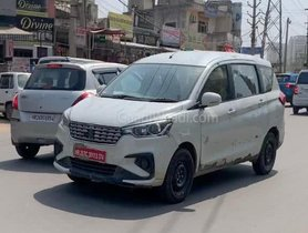 Maruti Ertiga Spotted Testing With 1.5-litre Diesel Motor Again
