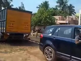 Tata Hexa Amazingly Rescues A Truck Stuck in Mud
