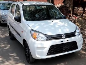 Updated Maruti Alto 800 With Airbags and ABS Spotted For The First Time [VIDEO]