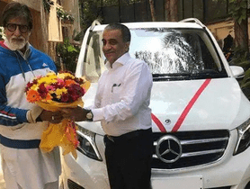 [Celebrity Car Collection] Amitabh Bachchan Adds Mercedes-Benz V-Class To His Garage
