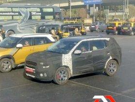 Camouflaged Kia SP2i Rubs Shoulders With Maruti Brezza On Road