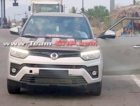 2019 Ssangyong Tivoli (facelift) Spied Testing Without Heavy Covers In India