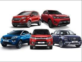 Hyundai Venue vs Mahindra XUV300 vs Ford EcoSport vs Maruti Vitara Brezza vs Tata Nexon