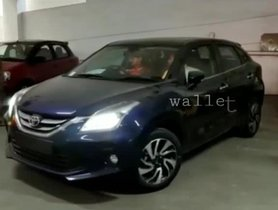 Toyota Glanza Spotted Being Driven For The First Time [Video]