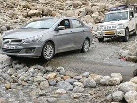 This Maruti Ciaz Was Successful In Crossing The Dangerous Himalayan Terrain