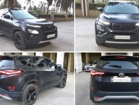 The First Black Tata Harrier Has Just Appeared Online [Video]