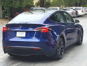 Tesla Model Y Caught On Camera For The First Time Ever