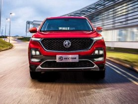 MG Motor India Aims To Sell 18,000 Units Of Hector Per Year