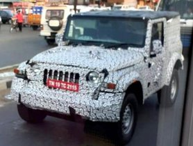 2020 Mahindra Thar Spotted With Hard Top For The 1st Time