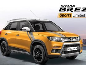 Maruti Vitara Brezza Sports Limited Edition Launched In India At INR 7.98 Lakh