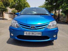 Used Toyota Platinum Etios MT car at low price