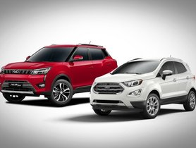 Mahindra XUV300 and Ford EcoSport Competing In A Drag Race - Video